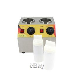 Stainless Steel Electric Double Unit Squeeze Bottle Food Topping Warmer Machine