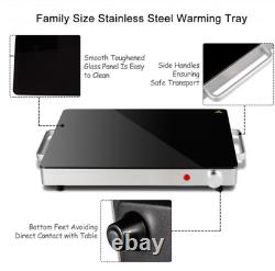 Stainless Steel Electric Warming Tray with Glass Top