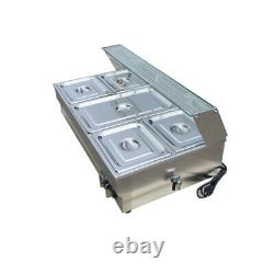 Steam Table Food Warmer Buffet 5 Pans Steamer Full Size&1/2 Size Pans New! 190522