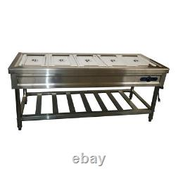 TECHTONGDA Food Warmer 5 Well Stainless Steel Electric Steam Table Buffet Server