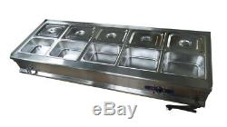 Techtongda 10-Pan Food Warmer BainMarie Countertop Steam Table 110V1800W Kitchen