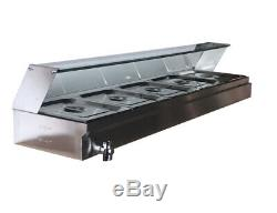 Top-Quality 5-Pan Commercial Stainless Buffet Food Warmer Outdoor&Indoor Use