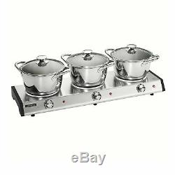 Tramontina 80154/533DS Home Appliances Triple-Hob Electric Buffet Warmer with