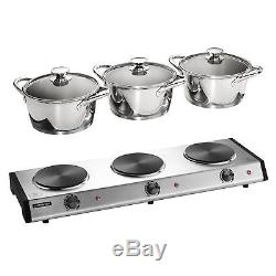 Tramontina 80154/533DS Triple-Hob Electric Buffet Warmer, Stainless Steel