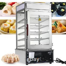 US Hot Dog Steamer Warmer Machine Food Bun Commercial Electric Countertop Cooker