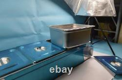 Used 3-PAN Countertop Food Warmer Commercial Steamer Bain Marie 1/2 size 6 Deep