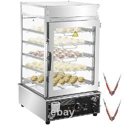 VEVOR Bun Steamer Warmer Machine with 5 Layers Food Bun Commercial Electric