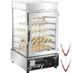 VEVOR Commercial Bun Steamer Electric Food Display 6 Layer Warmer CE Approved