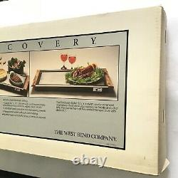 Vintage DISCOVERY BUFFET Tray Warmer Plate NOS Unopened The Westbend Company