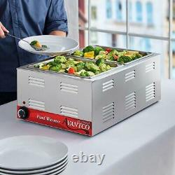 W50 12 x 20 Full Size Electric Countertop Food Warmer 120V, 1200W Stainless