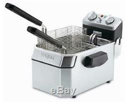 Waring WDF1550 15lb Electric Counter Top Fryer with Timer 240v