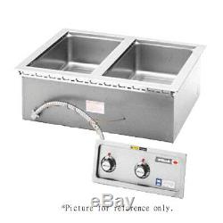 Wells MOD-200TDM Built-In Electric Food Warmer with Manifold Drain- 2 Pan Capacity