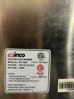 Winco Electric Commercial Food Warmer Full Size With Pans, Lids & Ladles